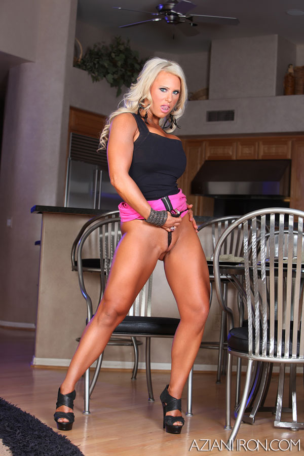 body builder Megan Avalon nude at Aziani Iron