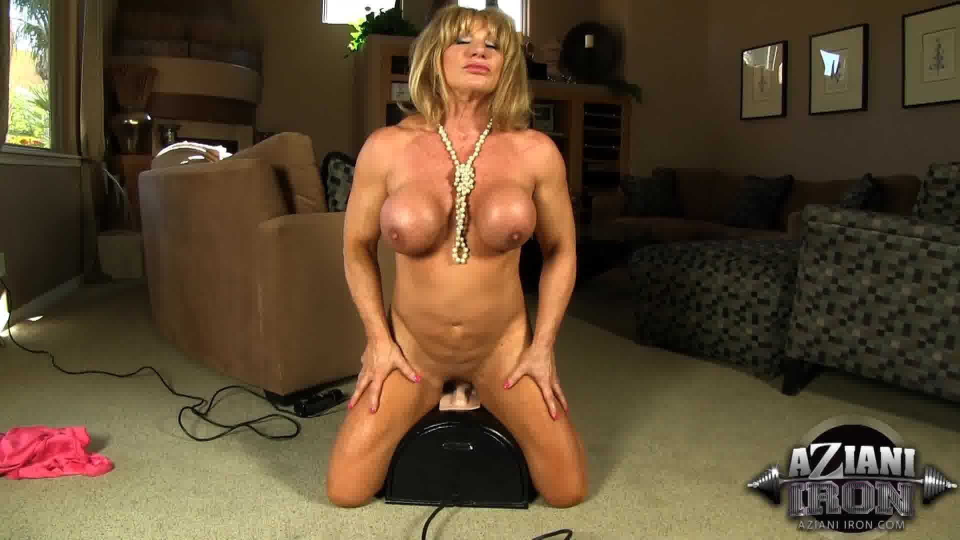 sexy clit show ... but also shows us her pretty pussy and big clit. She jumps on the  Sybian and goes for a ride until she cums all over the sex  machine.-AzianiIron.com