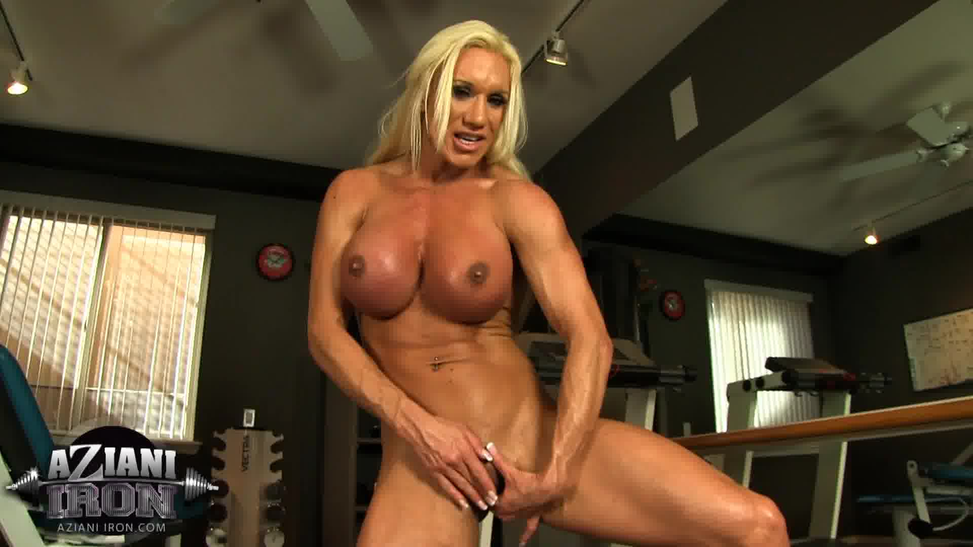 Naked female bodybuilder ashlee chambers sexy workout 8